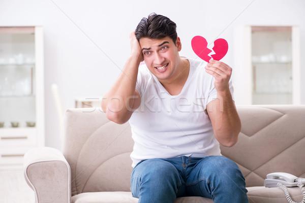 Young man in sad saint valentine concept Stock photo © Elnur