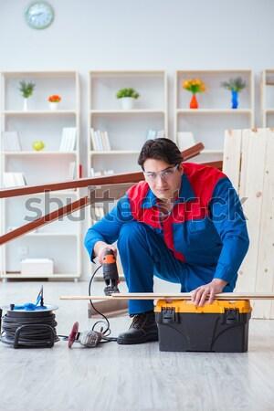 Super hero repairman working at home Stock photo © Elnur