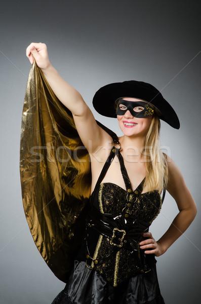 Vrouw piraat kostuum halloween partij zee Stockfoto © Elnur