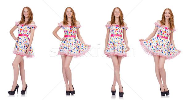 Jonge vrouw jurk geïsoleerd witte vrouw Stockfoto © Elnur