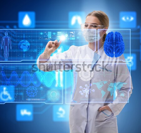 The woman doctor in telemedicine mhealth concept Stock photo © Elnur