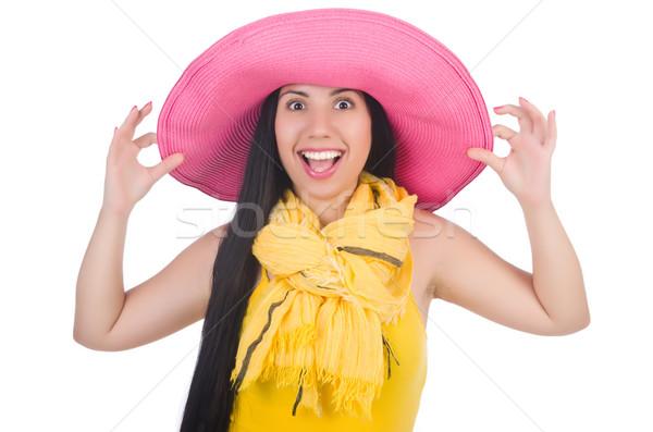 Vrouw Panama klaar zomervakantie meisje Stockfoto © Elnur