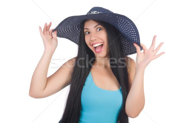 女性 着用 パナマ 準備 夏休み 少女 ストックフォト © Elnur