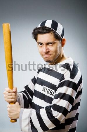 Więzień złe biały twarz prawa policji Zdjęcia stock © Elnur