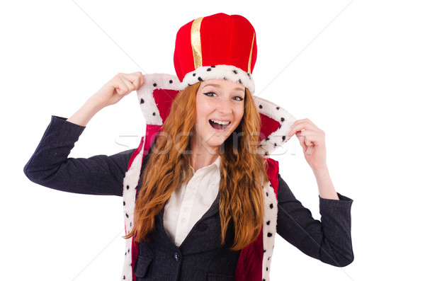 Woman queen isolated on the white background Stock photo © Elnur