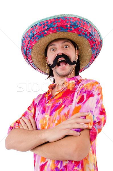 Funny mexicano sombrero sombrero hombre felicidad Foto stock © Elnur