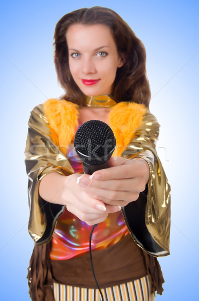 Vrouw spaans kleding meisje partij haren Stockfoto © Elnur