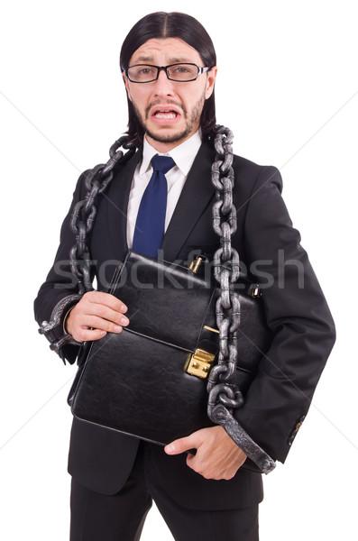 Férfi lánc izolált fehér férfi fehér üzlet Stock fotó © Elnur
