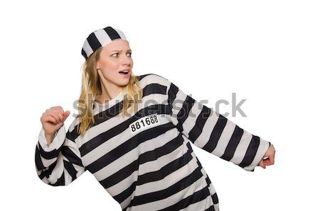 Coppia isolato bianco legge giustizia catena Foto d'archivio © Elnur