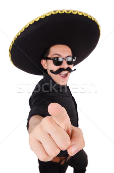 Engraçado mexicano sombrero retro vaqueiro seis Foto stock © Elnur