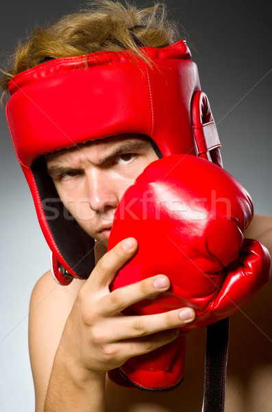 Funny nerd boxer in sport concept Stock photo © Elnur