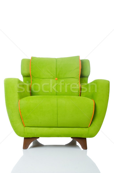 Green armchair isolated on the white Stock photo © Elnur