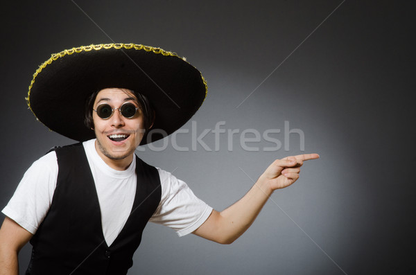 Pessoa sombrero seis engraçado festa Foto stock © Elnur