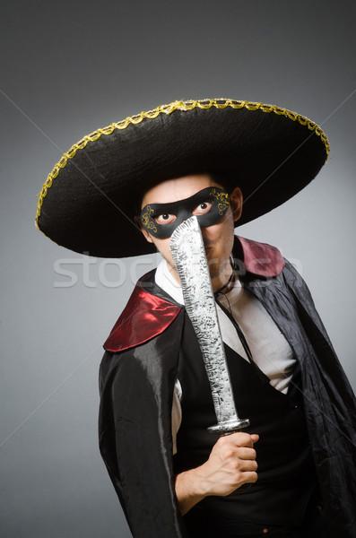 Pessoa sombrero seis engraçado suicídio Foto stock © Elnur
