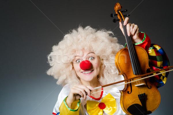 Clown grappig donkere muziek man triest Stockfoto © Elnur