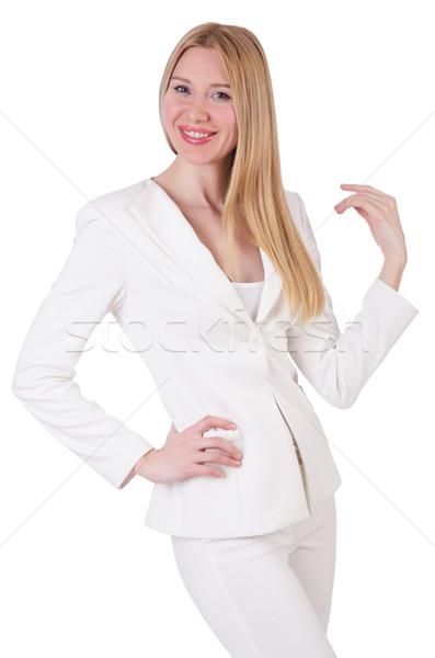 Elegant blond businesslady isolated on white Stock photo © Elnur