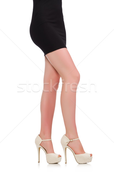Woman legs with shoes isolated on the white Stock photo © Elnur