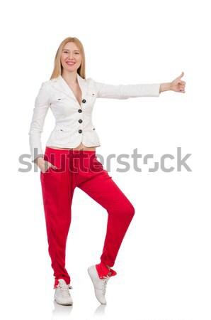 Kobieta urzędnik przypadkowy stylu odizolowany Zdjęcia stock © Elnur