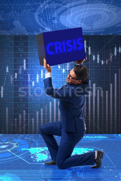 Biznesmen kryzys działalności ceny korporacyjnych rynku Zdjęcia stock © Elnur