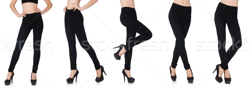 Black leggings in beauty fashion concept isolated on white Stock photo © Elnur