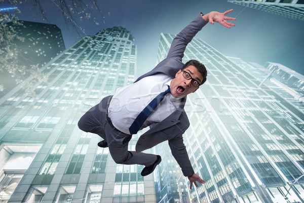 Businessman committing suicide due to crisis Stock photo © Elnur