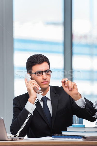 Young businessman talking on the phone Stock photo © Elnur