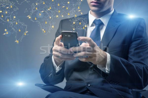 ソーシャルネットワーク を ビジネス 技術 連絡 メール ストックフォト © Elnur