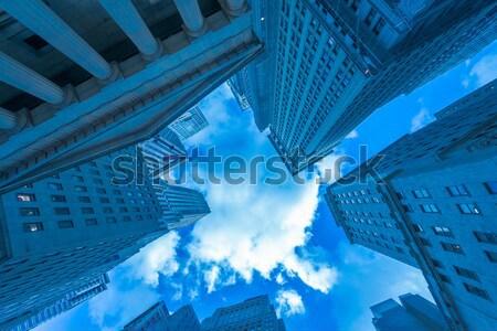 Nieuwe wolkenkrabbers straat niveau kantoor stad Stockfoto © Elnur