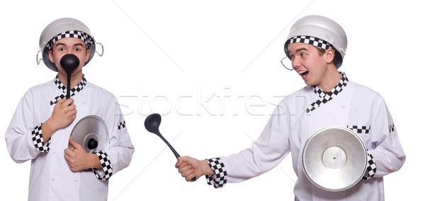 Set of photos with funny cook Stock photo © Elnur