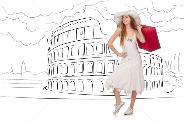 девушки счастливым моде фон Сток-фото © Elnur