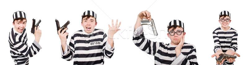 面白い 刑務所 受刑者 男 背景 郡 ストックフォト © Elnur