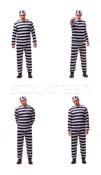 Homem prisioneiro isolado homem branco branco cadeia Foto stock © Elnur