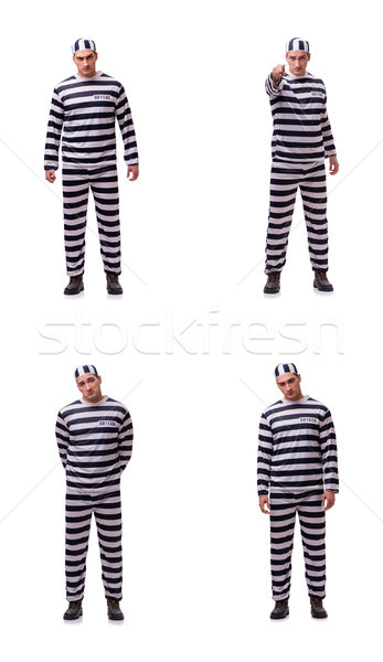 Man gevangene geïsoleerd blanke man witte keten Stockfoto © Elnur