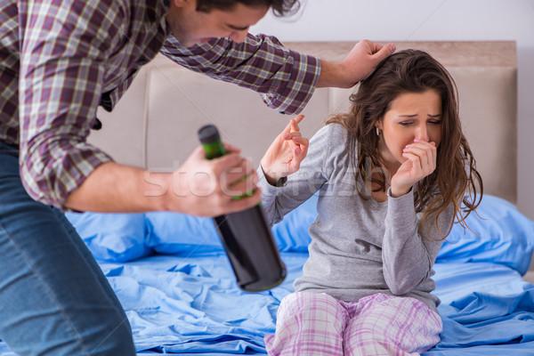 家庭内暴力 家族 引数 酔っ 男 女性 ストックフォト © Elnur