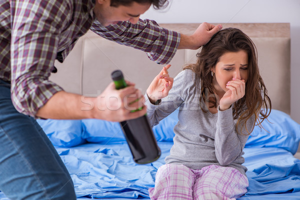 Familia argumento borracho hombre mujeres Foto stock © Elnur