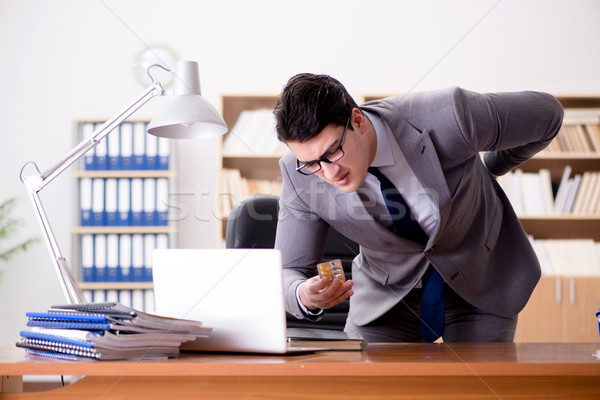 Imprenditore sentimento dolore ufficio mano lavoro Foto d'archivio © Elnur