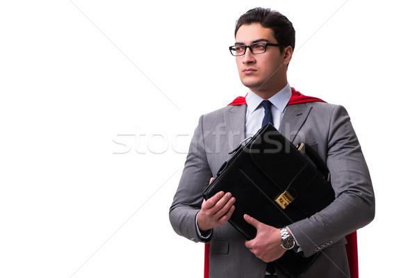スーパーヒーロー ビジネスマン 孤立した 白 ビジネス 空 ストックフォト © Elnur