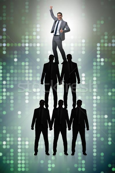 Empresario superior organización tabla negocios grupo Foto stock © Elnur
