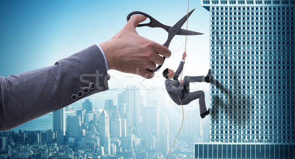 Businessman in business risk concept  Stock photo © Elnur