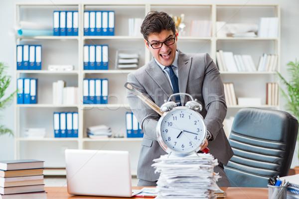 сердиться агрессивный бизнесмен служба человека часы Сток-фото © Elnur