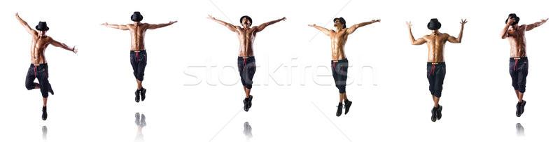 Kollázs táncosok izolált fehér férfi modell Stock fotó © Elnur