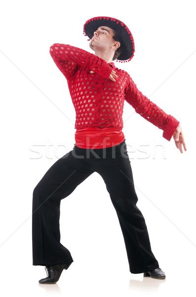 Man dancing spanish dances on white Stock photo © Elnur