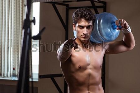Muscular actor máscara cortina cara moda Foto stock © Elnur