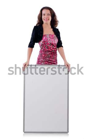 Jonge vrouw boord witte glimlach mode zomer Stockfoto © Elnur