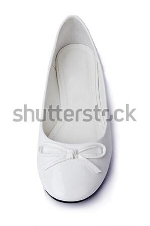 Altın yalıtılmış beyaz dans arka plan Stok fotoğraf © Elnur
