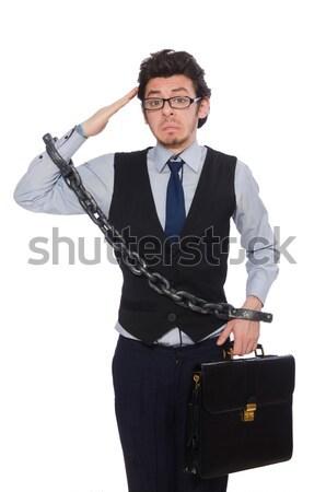 человека топор изолированный белый бизнеса Сток-фото © Elnur