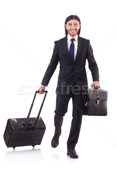 Işadamı iş gezisi bagaj mutlu arka plan seyahat Stok fotoğraf © Elnur