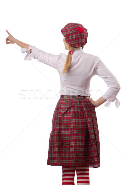 Woman in traditional scottish clothing Stock photo © Elnur