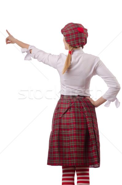 Kadın geleneksel giyim sokak çanta elbise Stok fotoğraf © Elnur