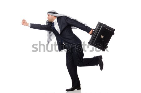 Robber with stolen suitcase and gun Stock photo © Elnur